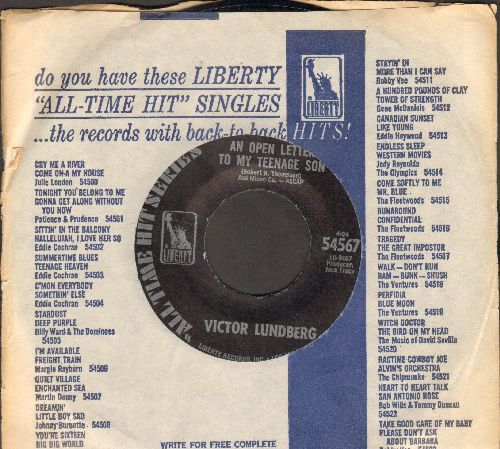 Lundberg, Victor - An Open Letter To My Teenage Son/My Buddy Carl (re-issue with company sleeve) - M10/ - 45 rpm Records